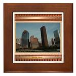 Houston Skyline #2 Framed Tile