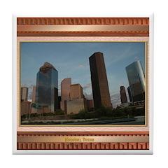 Houston Skyline #2 Tile Coaster