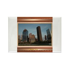 Houston Skyline #2 Rectangle Magnet