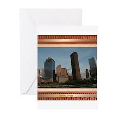 Houston Skyline #2 Greeting Card