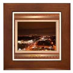 Houston Skyline #1 Framed Tile