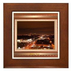 Houston Skyline #1 Framed Tile