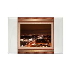 Houston Skyline #1 Rectangle Magnet
