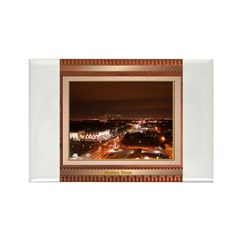 Houston Skyline #1 Rectangle Magnet