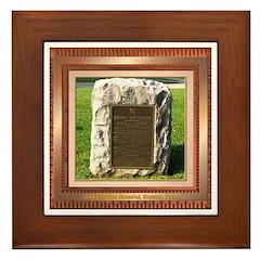 Sam Houston Memorial Framed Tile