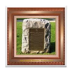 Sam Houston Memorial Tile Coaster
