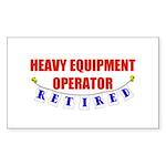 Retired Heavy Equipment Operator Sticker (Rectangu