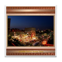 Crawfish Festival Tile Coaster