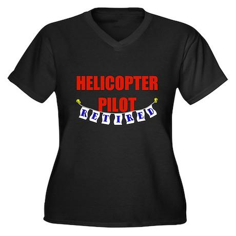 Retired Helicopter Pilot Women's Plus Size V-Neck