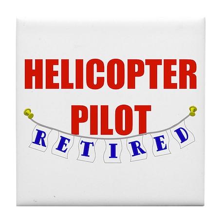 Retired Helicopter Pilot Tile Coaster