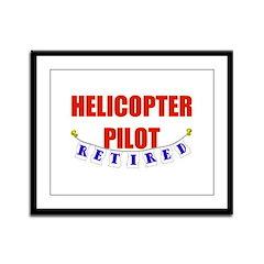 Retired Helicopter Pilot Framed Panel Print