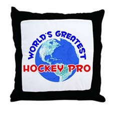 World's Greatest Hocke.. (E) Throw Pillow