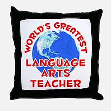 World's Greatest Langu.. (F) Throw Pillow