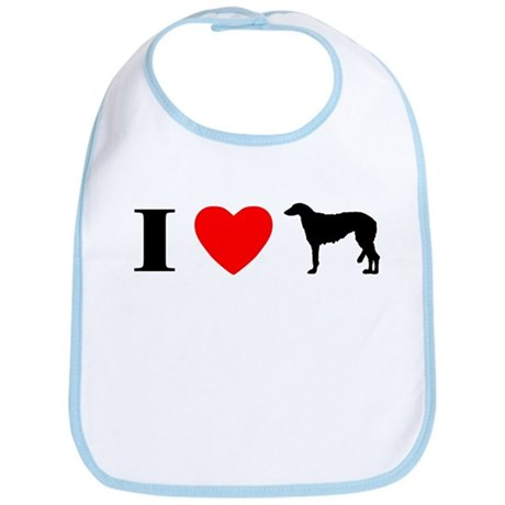 I Heart Scottish Deerhound Bib