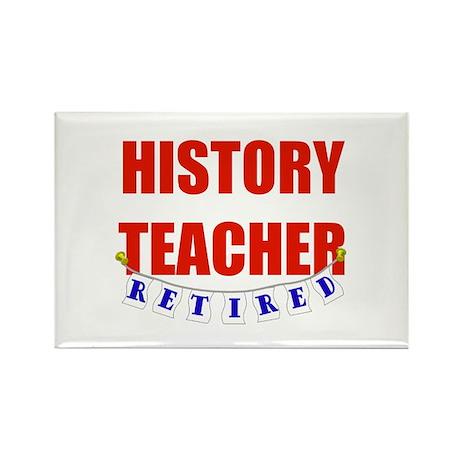 Retired History Teacher Rectangle Magnet