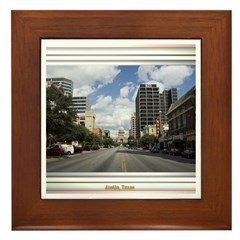 Austin Skyline #4 Framed Tile