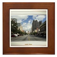 Austin Skyline #4 Framed Tile