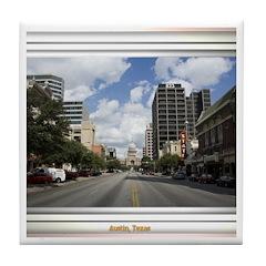 Austin Skyline #4 Tile Coaster