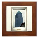 Austin Skyline #2 Framed Tile