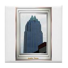 Austin Skyline #2 Tile Coaster