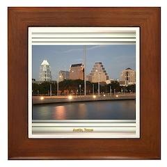 Austin Skyline #1 Framed Tile