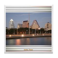 Austin Skyline #1 Tile Coaster