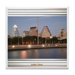 Austin Skyline #1 Tile Coaster