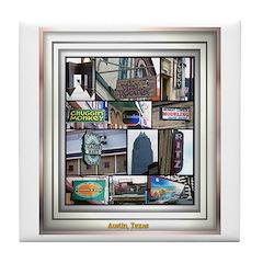 Austin Collage Tile Coaster