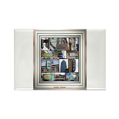 Austin Collage Rectangle Magnet