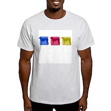 Color Row Scottish Deerhound T-Shirt