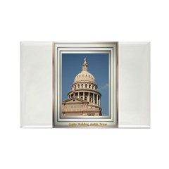 State Capitol #3 Rectangle Magnet