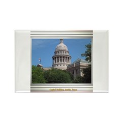 State Capitol #1 Rectangle Magnet