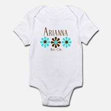 Arianna - Blue/Brown Flowers Infant Bodysuit