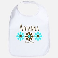 Arianna - Blue/Brown Flowers Bib