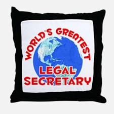 World's Greatest Legal.. (F) Throw Pillow