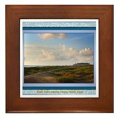 South Padre Island Framed Tile