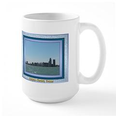 Corpus Christi Skyline Large Mug
