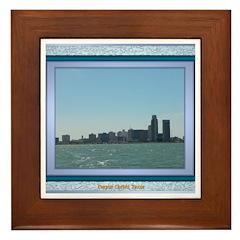 Corpus Christi Skyline Framed Tile