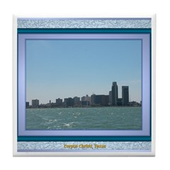 Corpus Christi Skyline Tile Coaster