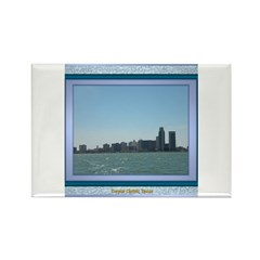 Corpus Christi Skyline Rectangle Magnet