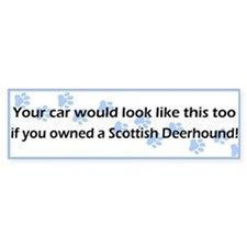 Your Car Scottish Deerhound Bumper Bumper Sticker