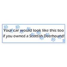 Your Car Scottish Deerhound Bumper Car Sticker