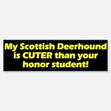 Cuter Scottish Deerhound Bumper Bumper Bumper Sticker