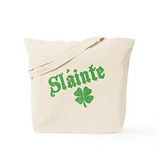 Slainte with Four Leaf Clover Tote Bag