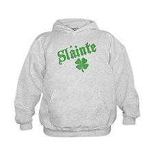 Slainte with Four Leaf Clover Hoodie
