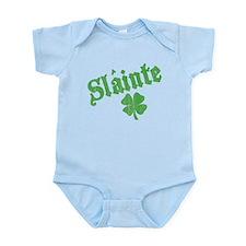 Slainte with Four Leaf Clover Infant Bodysuit