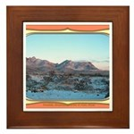 Frankline Mountain Sunrise Framed Tile