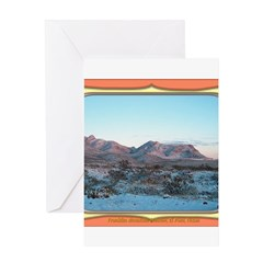 Frankline Mountain Sunrise Greeting Card