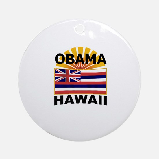 Barack Obama Hawaii Ornament (Round)