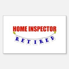 Retired Home Inspector Rectangle Decal